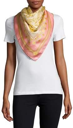 Versace Women's Carre Printed Silk Scarf