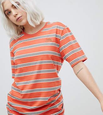Nike Sb Striped T-Shirt In Orange
