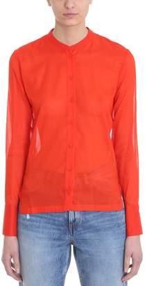 Mauro Grifoni Orange Red Cotton Shirt