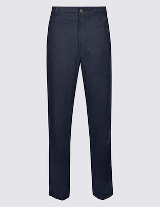 Marks and Spencer Regular Fit Linen Rich Chinos