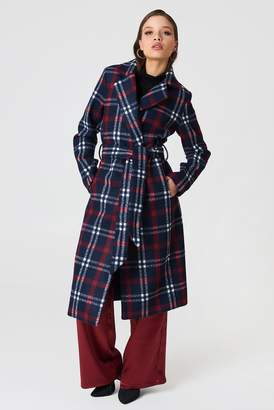 Na Kd Trend Checked Long Coat