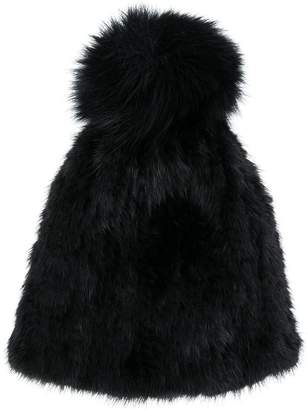 Yves Salomon Accessories knitted pom pom hat