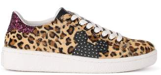 M.O.A. Master Of Arts Moa Spotted Cow Hair Sneaker With Mickey Mouse Shape
