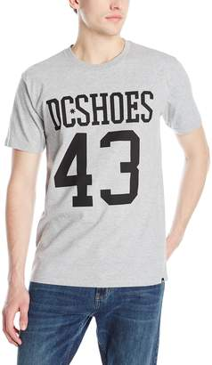 DC Men's Numbers Short Sleeve T-Shirt, Heather Grey