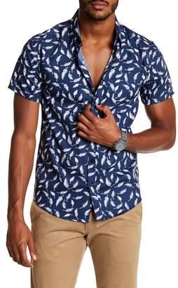 Coastal Printed Haiku Feather Print Modern Fit Shirt