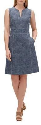 Lafayette 148 New York Brett Sublime Space-Dye Sleeveless Dress