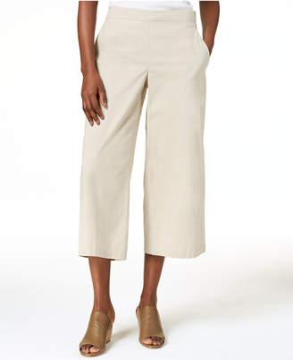 Eileen Fisher Cropped Organic Cotton Wide-Leg Pants, Regular & Petite