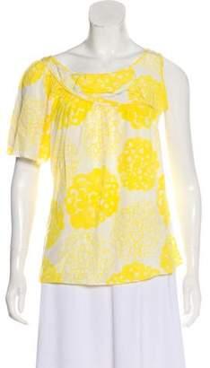 Loeffler Randall Printed Silk Blouse