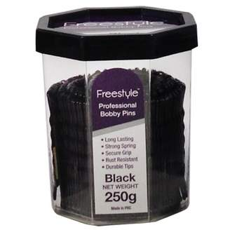 Freestyle Professional Bobby Pins Black 250 g