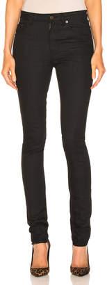 Saint Laurent Skinny Pant in Used Black | FWRD