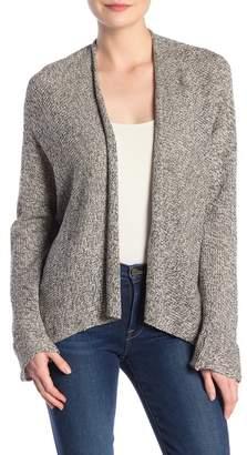 Modern Designer Marled Knit Open Front Cardigan (Petite)