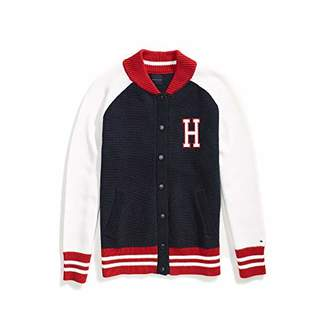 Tommy Hilfiger Women's Adaptive Varsity Jacket with Magnetic Buttons