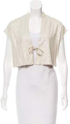 Eileen Fisher Sequined Knit Shrug