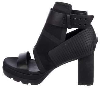 Sorel Neoprene Peep-Toe Sandals