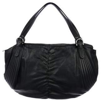 Salvatore Ferragamo Ruched Leather Hobo