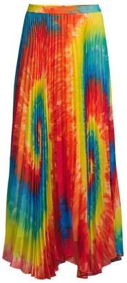 Alice + Olivia Shannon Tie-Dye Pleated Long Skirt