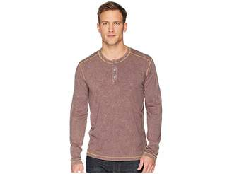 Agave Denim Freight Train Long Sleeve Three-Button Henley