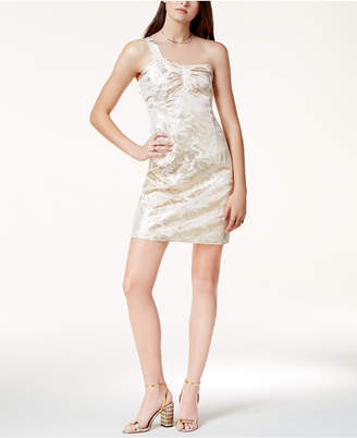 Glam by Glamorous One-Shoulder Metallic Dress, Created for Macy's