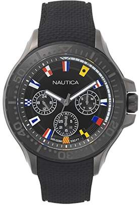 Nautica Men's 'Auckland' Quartz Stainless Steel and Silicone Sport Watch