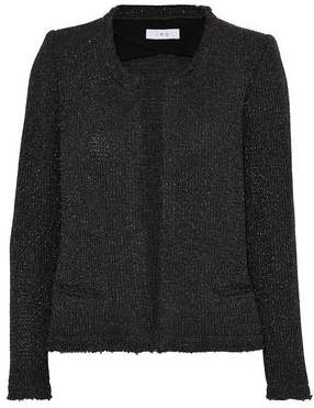 IRO Metallic Frayed Knitted Jacket