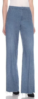 Women's Joe's Bessie High Waist Wide Leg Trousers $228 thestylecure.com