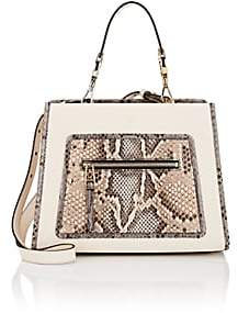 Fendi Women's Runaway Small Leather & Python Tote Bag-Beige, Tan