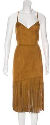 Lovers + Friends Sleeveless Fringe Dress w/ Tags brown Sleeveless Fringe Dress w/ Tags