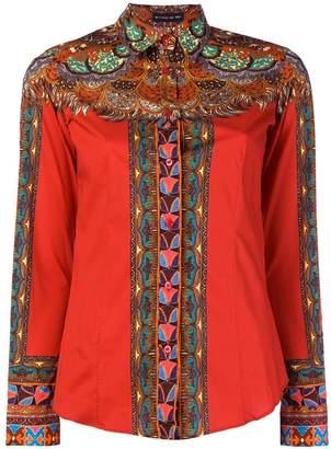Etro paisley contrast shirt