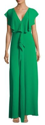 BCBGMAXAZRIA Ruffle-Front Gown $298 thestylecure.com