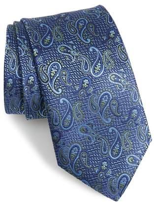 David Donahue Paisley Silk X-Long Tie