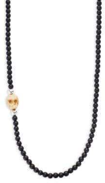 King Baby Studio Sterling Silver & Beaded Onyx Necklace