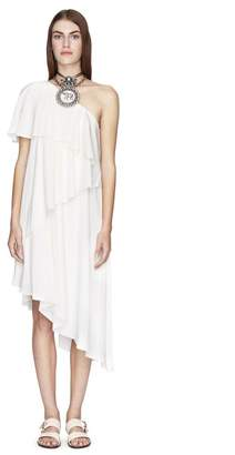 Lanvin Ivory Asymmetrical Dress