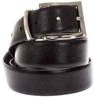 Emporio Armani Black Reversible Leather Belt