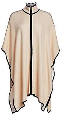 St. John Women's Placed Engineered Stripe Knit Cape