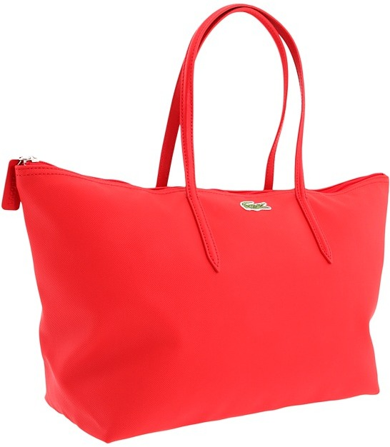 Lacoste L1212 Vertical Shopper (Rouge Red) - Bags and Luggage