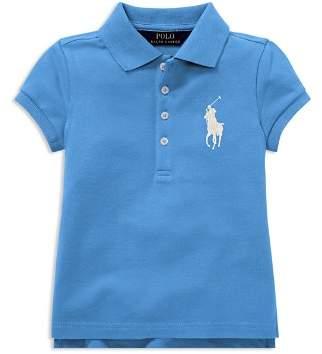 Ralph Lauren Girls' Big Pony Stretch Polo - Little Kid
