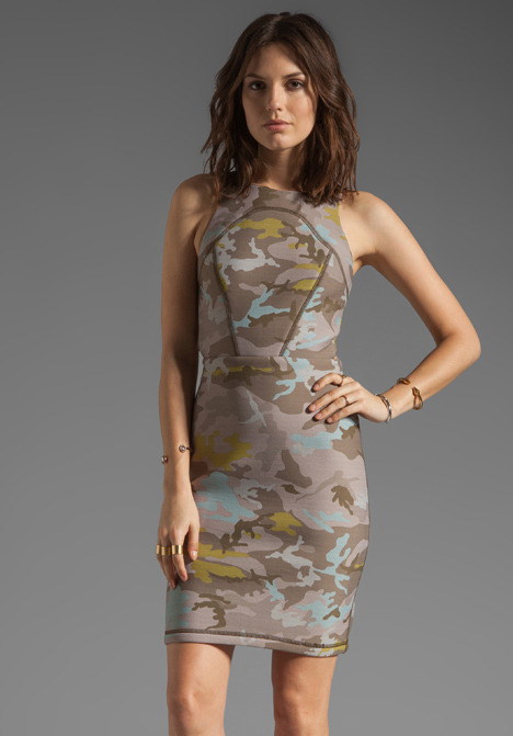 Cynthia Rowley Bonded Open Back Dress