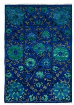 Suzani Collection Midnight Floral Rug