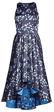 4196a2af6172 Shoshanna Women's Campanula Satin Floral High-Low Dress