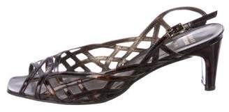 Stuart Weitzman Tortoiseshell Cutout Sandals
