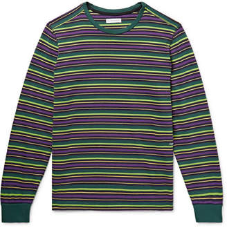 Pop Trading Company Alpine Logo-Embroidered Striped Cotton-Jersey T-Shirt
