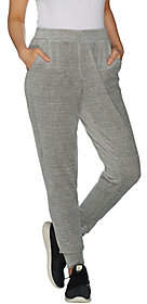 Denim & Co. Active Spacedye Velour Ribbed CuffJogger Pants
