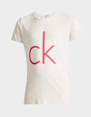 Calvin Klein Girls' Marl T-Shirt Junior