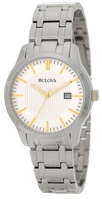 Bulova Men's Quartz Dress Bracelet Watch $225 thestylecure.com