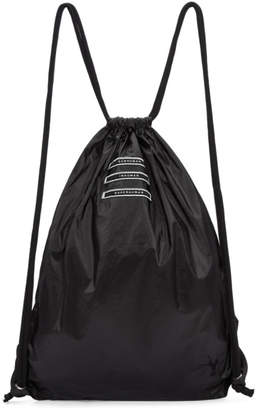 Rick Owens Black Drawstring Backpack
