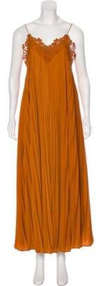 Self-Portrait Sleeveless Maxi Dress