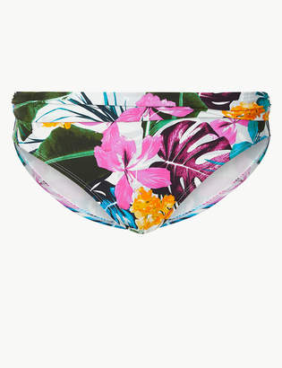 Marks and Spencer Tropical Print Roll Top Bikini Bottoms