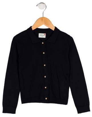 Bellerose Kids Girls' Knit Button-Up Cardigan