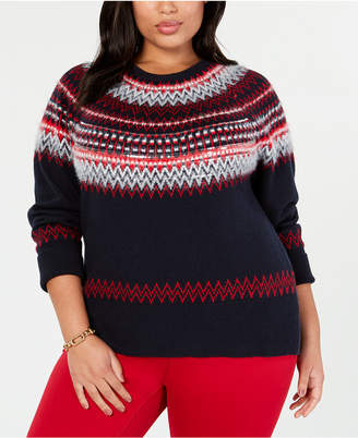 Tommy Hilfiger Plus Size Sequin Fair Isle Sweater