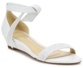 Alexandre BirmanAlexandre Birman Atenah Woven Leather Demi-Wedge Sandals
